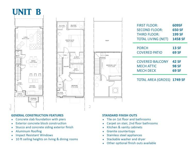 Floor Plan Unit B – Las Velas Village SPI